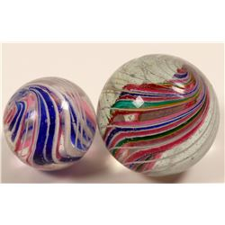 Marbles / Divided Core / 2 Items.    (108084)