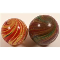 Marbles / Onion Skins / 2 Items.    (108071)