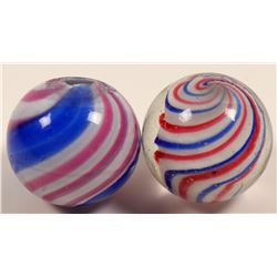 Marbles / Peppermint Swirl &  Lobed Solid Core / 2 Items.   (108083)
