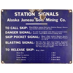 Alaska Juneau Mine Station Signal Sign   (108248)
