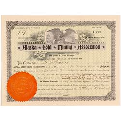 Alaska Gold Mining Association (Stock Cert.)   (106638)