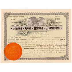 Alaska Gold Mining Association (Stock Cert.)   (106638)