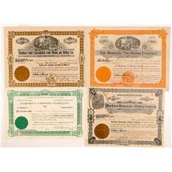 Four Different Alaska Mining Stocks   (104019)
