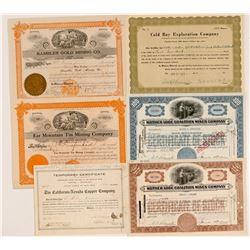 Six Alaska Mining Stocks   (104020)