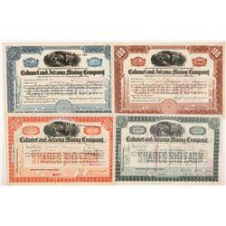 Calumet & Arizona Mining Co. Stock Certificate Group   (104260)