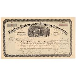 Bisbee Extension Mining Company Stock Certificate   (108041)