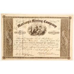 Maricopa Mining Company of Arizona - Early Arizona Mining Stock   (88015)