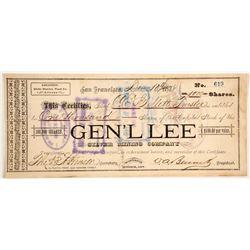 Gen' L Lee SIlver Mining District Stock   (88019)