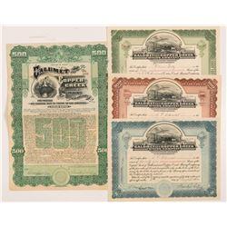 Calumet & Copper Creek Mining Co. Stock Certificates & Bond   (104257)