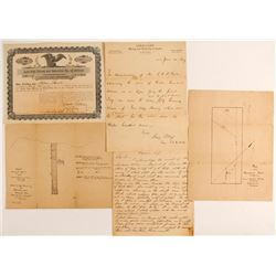 Gold Cliff Mining and Reduction Company collection of Stick, Letterheads and Maps   (88142)