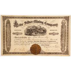 Aztec Silver Mining Company Stock   (88138)