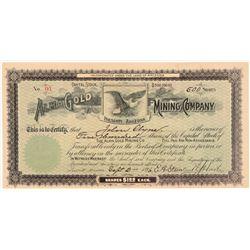 Alma Gold Mining Company Stock Cert.   (106635)