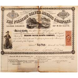 Picacho Silver Mining Company of Arizona Stock Certificate - RARE!   (106527)