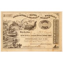 Bear River & Auburn Water & Mining Co. Stock Certificate   (107030)