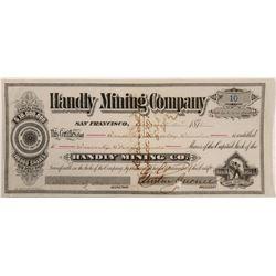 Handly Mining Stock   (106222)