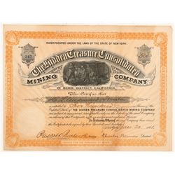 Hidden Treasure Consolidated Mining Co. Stock Certificate   (103501)