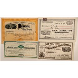 Calaveras Water and Mining Co., Gold & Silver Mining (4 Stocks Assortment)   (106651)