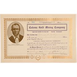 Coloma Gold Mining Company Stock Certificate   (107142)