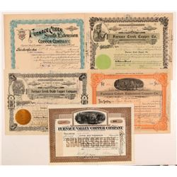Death Valley Furnace Creek Mining Stock Certificates   (107230)