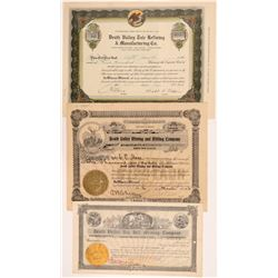 Three  Different Death Valley Mining Stock Certificates   (107225)
