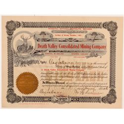 Death Valley Consolidated Mining Co. Stock Certificate   (107226)