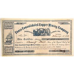 Evoca Consolidated Copper Mining Co Stock #4   (83208)