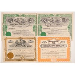 Downieville Mining Stock Certificate Collection   (107135)