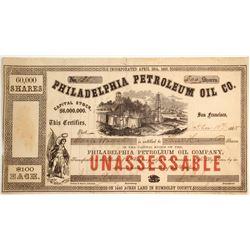 Philadelphia Petroleum Oil Company Stock, Eureka, Humboldt County   (79713)