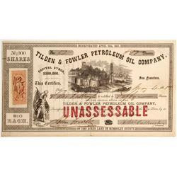 Tilden & Fowler Petroleum Oil Company Stock, Eureka Humboldt County   (79712)