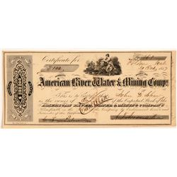 American River Water & Mining Co. Stock Certificate   (107324)