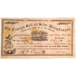 San Francisco Gold & Silver Mining Company stock, Golden Gate Ledge, San Bernardino   (79708)
