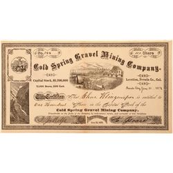 Cold Springs Gravel Mining Company Stock   (103595)