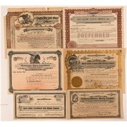 Grass Valley & Nevada City Mining Stock Certificate Collection   (107329)