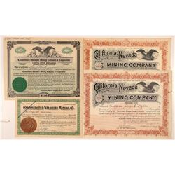Bishop Area Mining Stock Certificates   (107328)