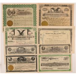 Greenwater Copper Mining Stock Certificates   (107303)
