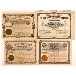 Kern & Madera Mining Stock Certificates   (107235)