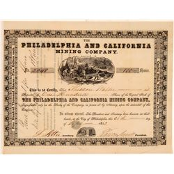 Philadelphia and California Mining Stock   (105584)