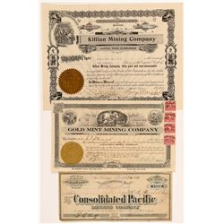 Mono County Mining Stock Certificates (incl. Bodie)   (107107)