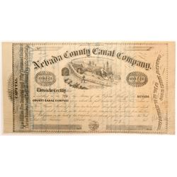 Nevada County Canal Company Stock Certificate   (104441)