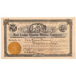 Red Ledge Quartz Mining Company Stock Certificate   (107247)