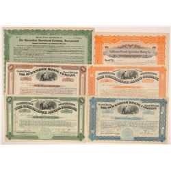 New Almaden Quicksilver Mining Stock Collection   (107139)