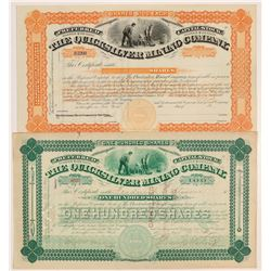 Quicksilver Mining Company Stock Certificates   (107138)