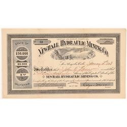 Newhall Hydraulic Mining Co. Stock Certificate   (107149)