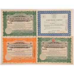 Acme Mining Company Stock Certificates   (107127)