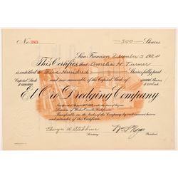 El Oro Dredging Company Stock Certificate   (107108)