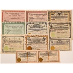 Oroville & Yuba Area Mining Stock Certificates   (107123)