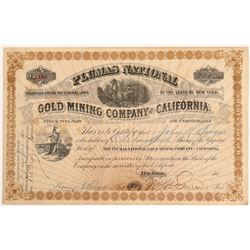 Plumas National Gold Mining Co. of California Stock Certificate   (104402)