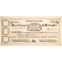 Gold Valley Main Tunnel & Mining Company Stock   (89445)