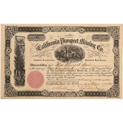 California Prospect Mining Co. Stock Certificate   (104407)