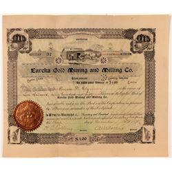 Eureka Gold Mining & Milling Company Stock Certificate   (103480)